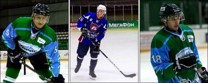 Слева направо: Александр Титов, Денис Полюдов и Артём Гареев