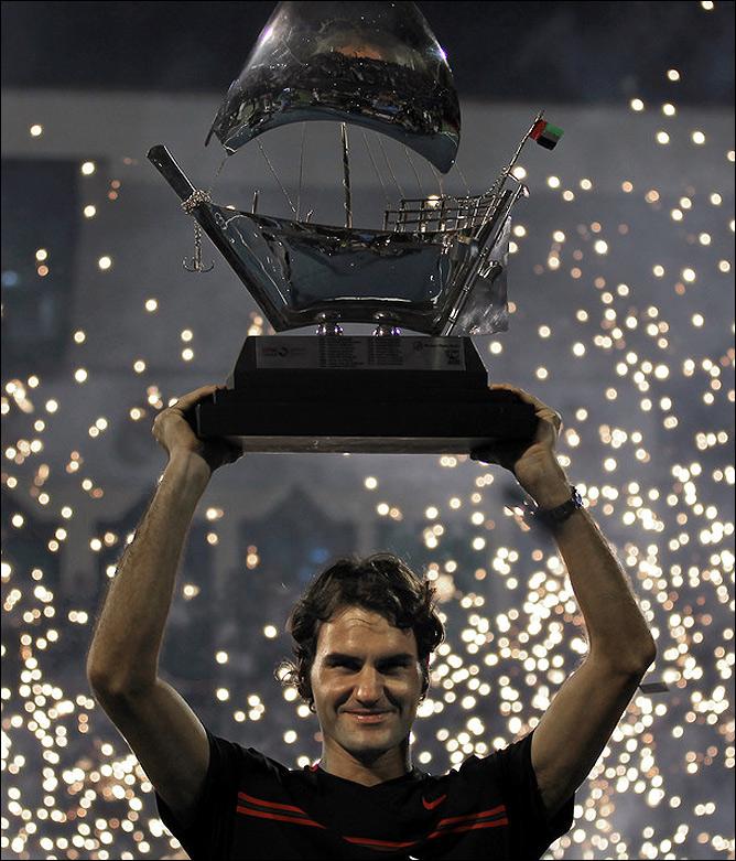 Роджер в 5-й раз победил в Дубае и завоевал 5-й титул за 7 турниров