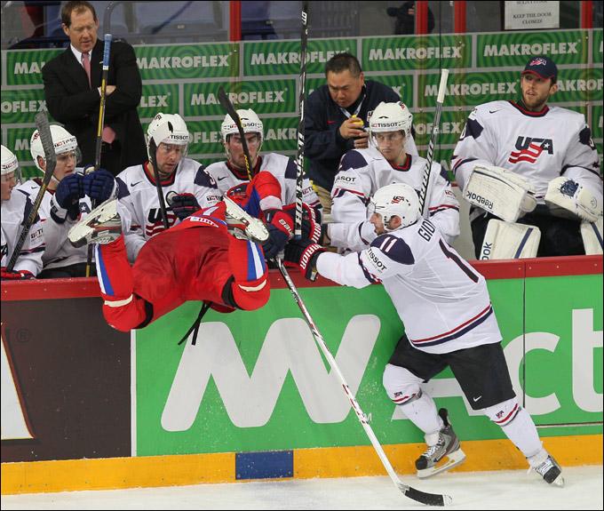 16 мая 2013 года. Хельсинки. Чемпионат мира. 1/4 финала. Россия — США — 3:8