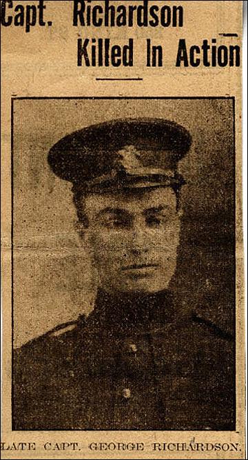 Газетная заметка о гибели капитана Джорджа Ричардсона