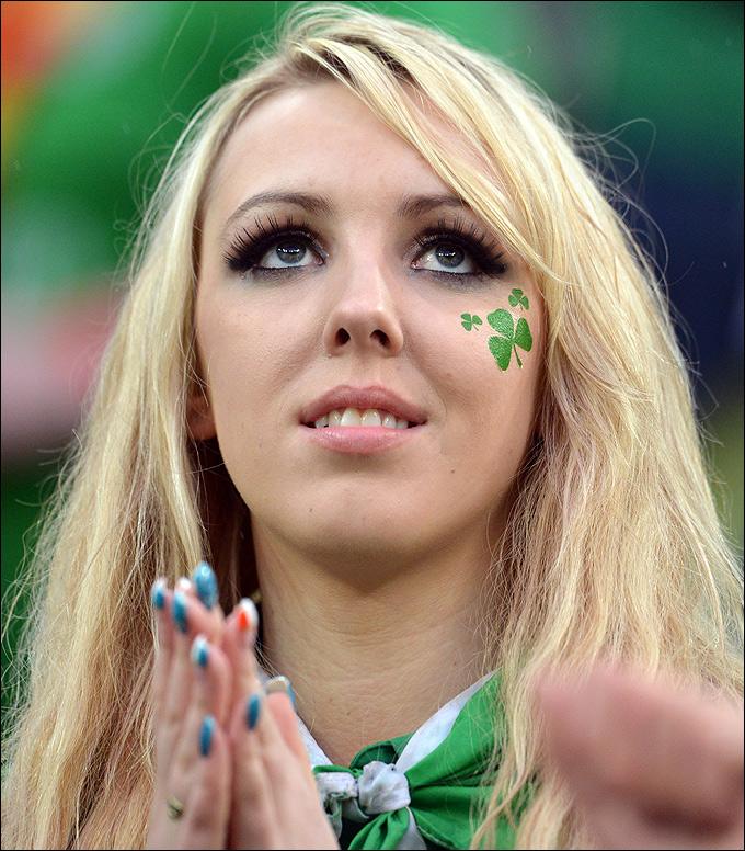 Болельщица сборной Ирландии