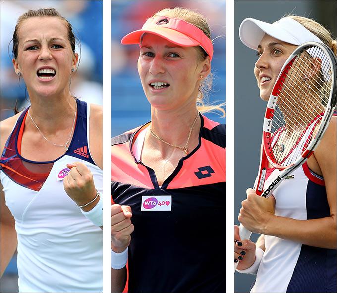 Павлюченкова, Макарова и Веснина сыграли в четвертьфинале.