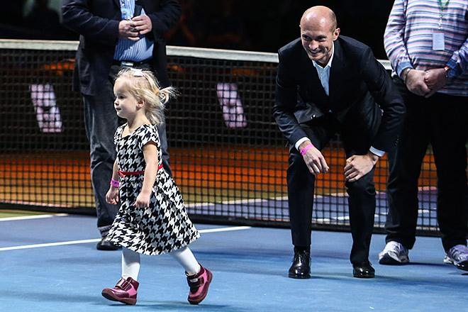 Николай Давыденко со своей дочерью Катей