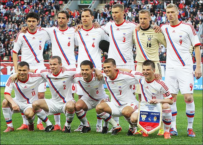Сборная России перед матчем с Уругваем