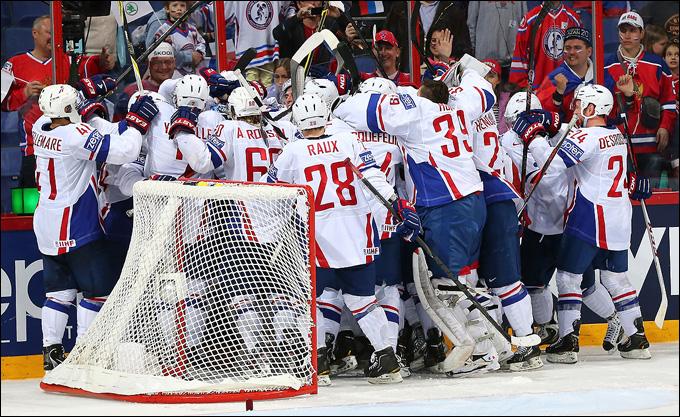 9 мая 2013 года. Хельсинки. Чемпионат мира. Групповой этап. Россия — Франция — 1:2. Первые секундны после финальной сирены