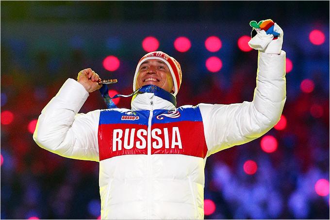 Победа Александра Легкова в лыжном масс-старте