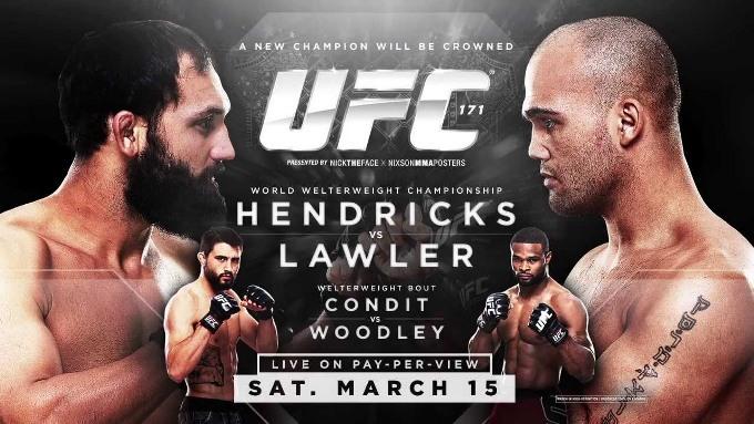 Постер к турниру UFC 171