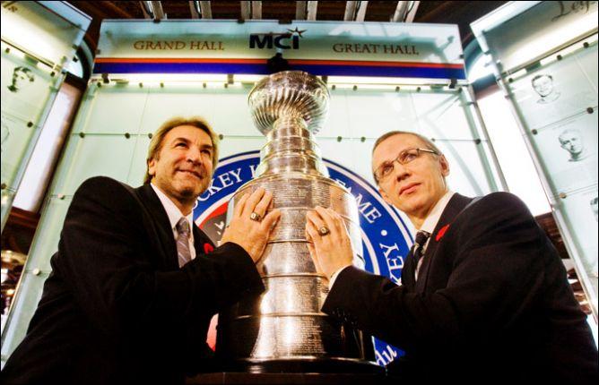 10 ноября 2008 года. Торонто. Введение в Зал хоккейной славы НХЛ Гленна Андерсона и Игоря Ларионова.