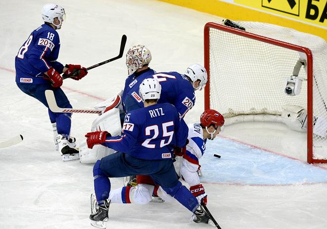 Фрагмент матча Россия — Франция
