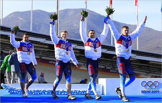 Победа четвёрки Александра Зубкова в бобслее