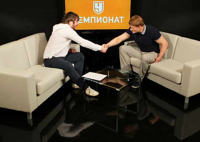 Константин Устьянцев и Александр Поветкин