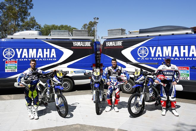 Команда Yamaha Factory Racing Rally Team Yamalube на «Дакаре-2015»