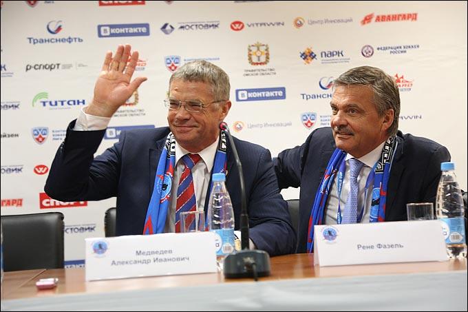 Рене Фазель и Александр Медведев