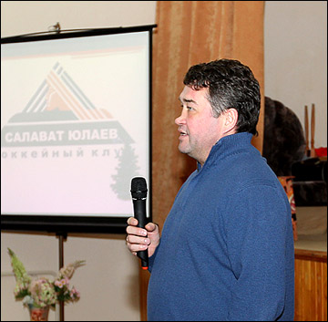 "Главный тренер ""Салавата Юлаева"" Венер Сафин"