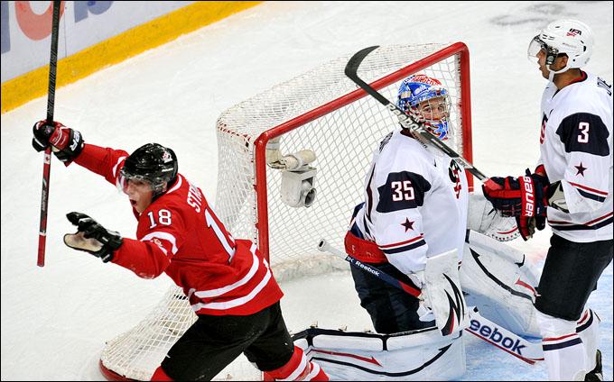 30 декабря 2012 года. Уфа. Молодежный чемпионат мира. Групповой турнир. Канада — США — 2:1
