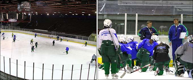 """Тренировка женской хоккейной команды """"Агидель"""""""
