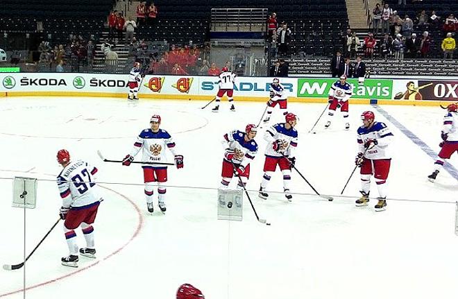 Предматчевая раскатка сборной России