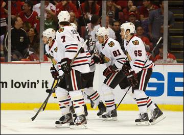 """28 мая 2013 года. Детройт. Плей-офф НХЛ. 1/4 финала. Матч № 6. """"Детройт"""" — """"Чикаго"""" — 3:4. """"Ястребы"""" вытянули серию в седьмой матч"""