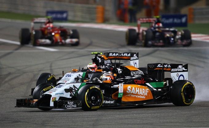 Серхио Перес и Нико Хюлькенберг на Гран-при Бахрейна