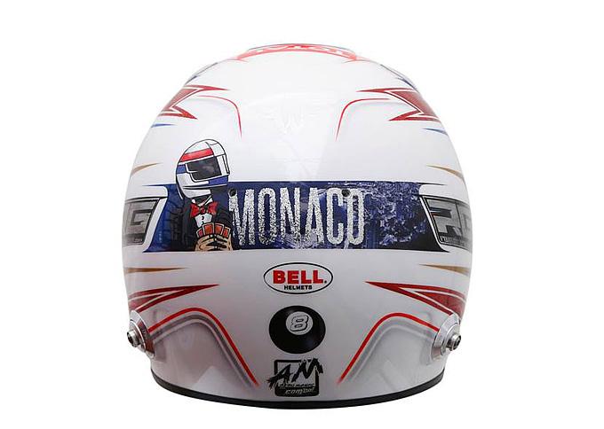 Шлем Ромена Грожана на Гран-при Монако