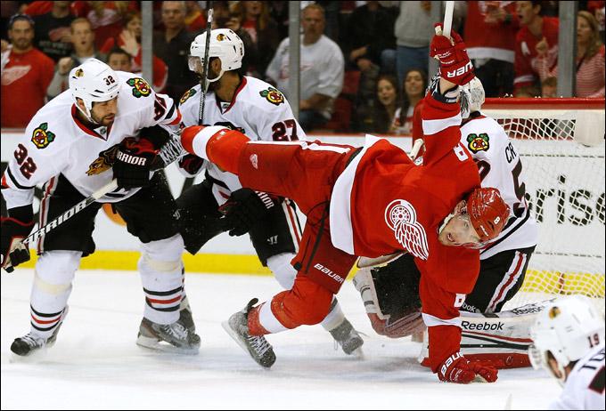 """28 мая 2013 года. Детройт. Плей-офф НХЛ. 1/4 финала. Матч № 6. """"Детройт"""" — """"Чикаго"""" — 3:4. Судьба серии решится в Чикаго"""