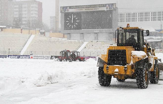 Матч в Перми не состоялся из-за обильного снегопада