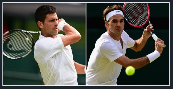 Новак Джокович и Роджер Федерер сыграют в финале.