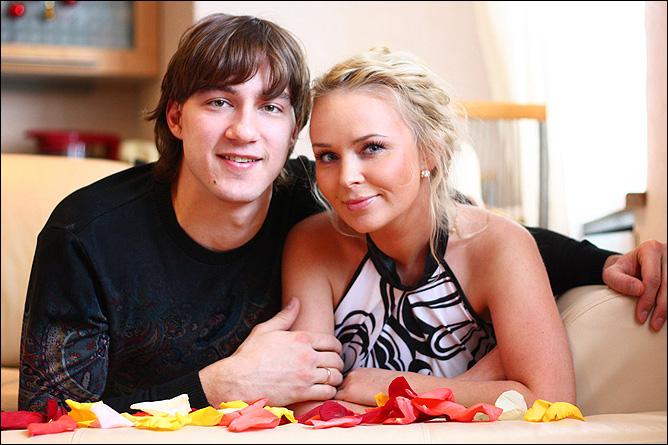 Никита Беспалов с женой Александрой