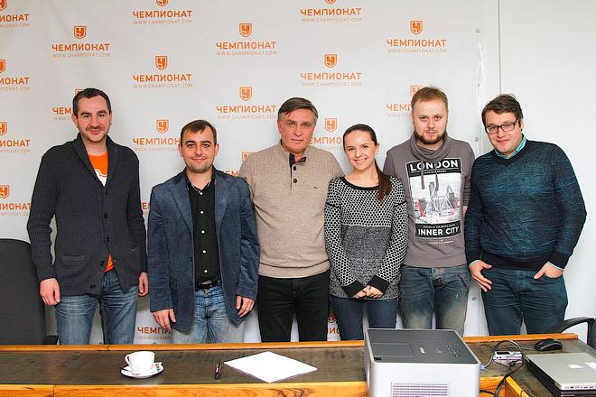 Валерий Петраков и журналисты «Чемпионата»