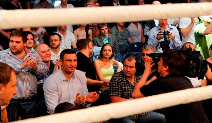 Мировой вечер бокса посетил один из его организаторов Виталий Кличко