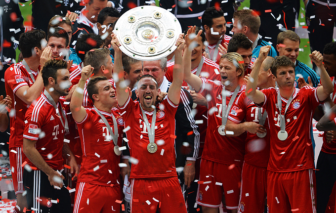 """Бавария"" — чемпион Германии сезона — 2012/13"