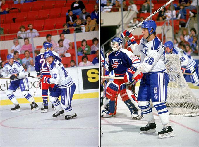Фрагменты матча Финляндия — США на Кубке Канады-1987