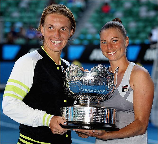 Светлана и Вера одержали победу в паре.