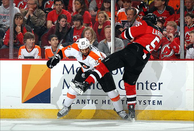 """4 мая 2012 года. Ньюарк. Плей-офф НХЛ. 1/4 финала. """"Нью-Джерси Девилз"""" — """"Филадельфия Флайерз"""" — 4:3 (ОТ)"""