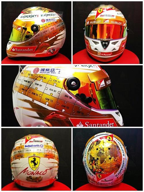 "Дизайн шлема Фернандо Алонсо на Гран-при Монако. Фото из ""твиттера"" испанца"