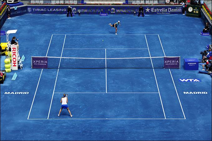 В Мадриде стартовал первый турнир на синем грунте