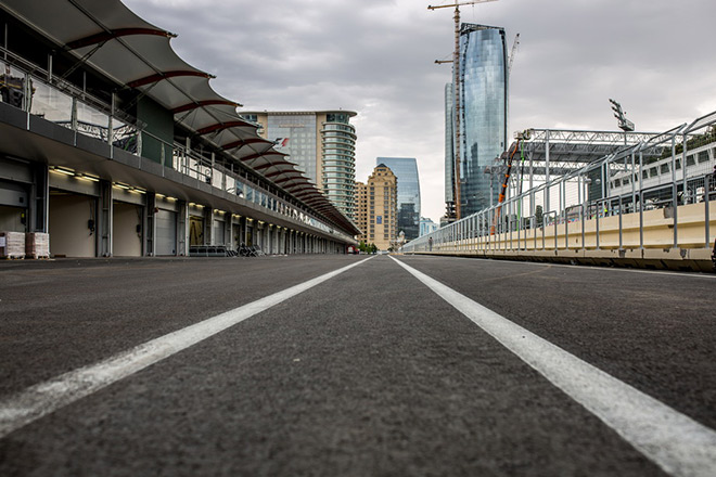 Пит-лейн и пит-билдинг Baku City Circuit