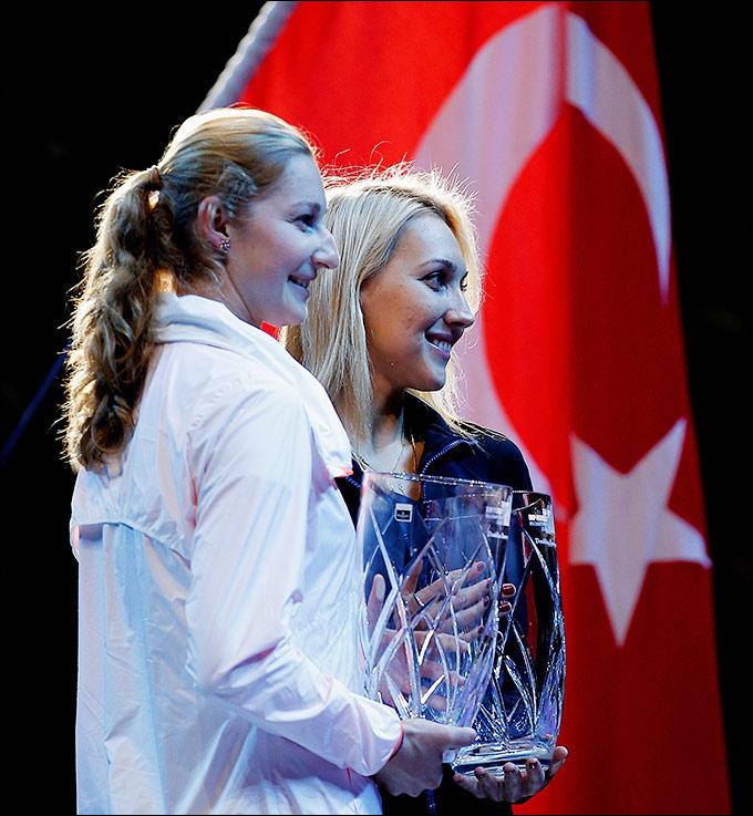 Елена Веснина и Екатерина Макарова в финале Стамбула