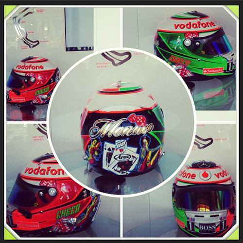 Шлем Серхио Переса, фото из Instagram гонщика