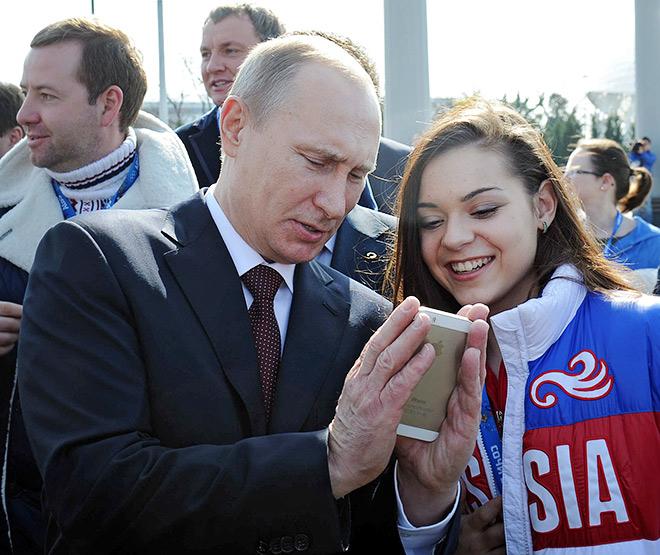 Аделина Сотникова и Владимир Путин