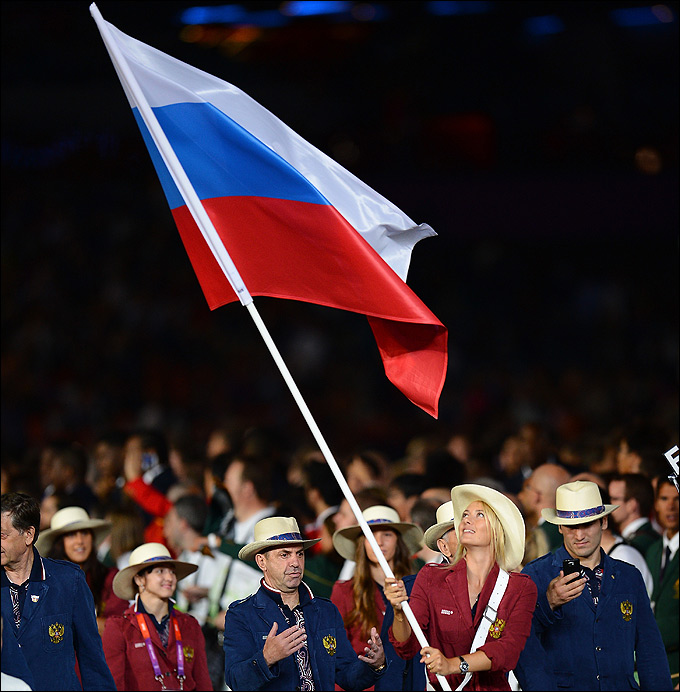 Мария Шарапова несла флаг России на церемонии открытия Олимпиады