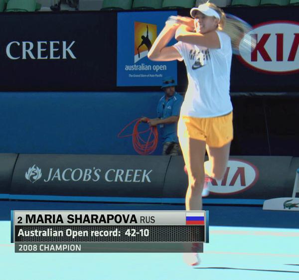 #шаразминка. Мария Юрьевна готовится к вечернему матчу в Мельбурне.