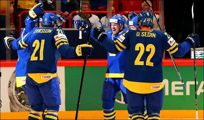 18 мая 2013 года. Стокгольм. Чемпионат мира. 1/2 финала. Финляндия — Швеция — 0:3. Шведы — в финале!