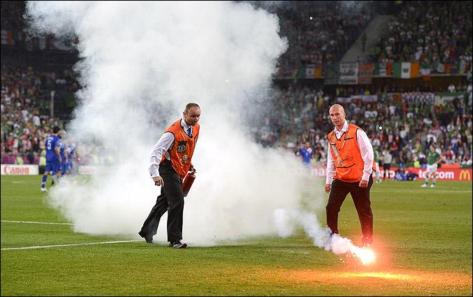 Хулиганство хорватских болельщиков