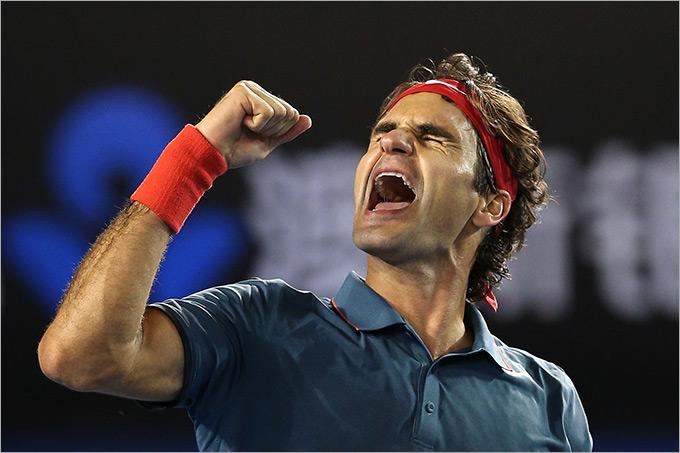 Четвертьфинал. Роджер Федерер (Швейцария, 6) — Энди Маррей (Великобритания, 4) — 6:3, 6:4, 6:7 (6:8), 6:3