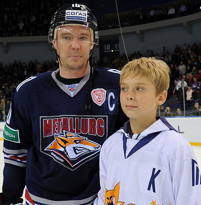Сергей Мозякин с сыном