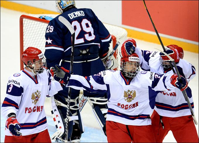 18 апреля 2013 года. Сочи. Юниорский чемпионат мира. Россия — США — 4:3