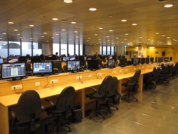 Пресс-центр на минус втором этаже
