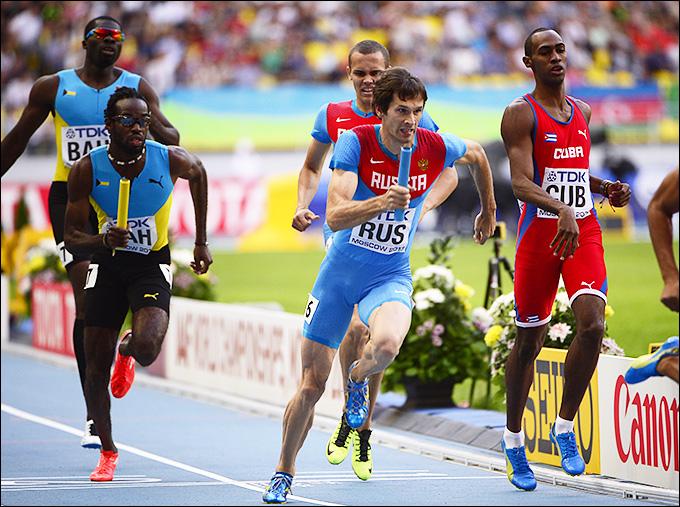 Россияне вышли в финал эстафеты 4 по 400 метров