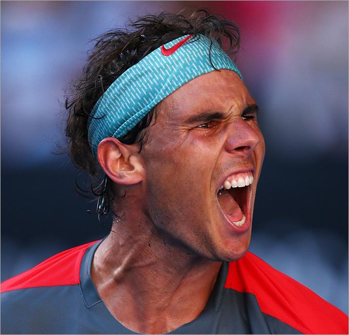 Четвертьфинал. Рафаэль Надаль (Испания, 1) — Григор Димитров (Болгария, 22) — 3:6, 7:6 (7:3), 7:6 (9:7), 6:2